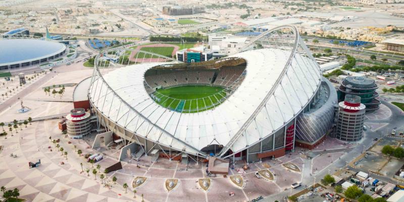 ملعب خليفة الدولي بقطر يحتضن مقابلة الدور النهائي لكأس العالم للأندية