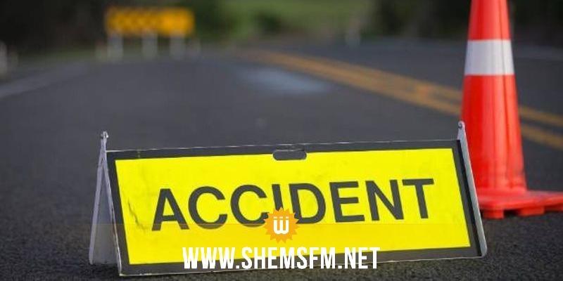 بوحجلة: وفاة امرأة وإصابة شخصين فى اصطدام عنيف بين سيارتين