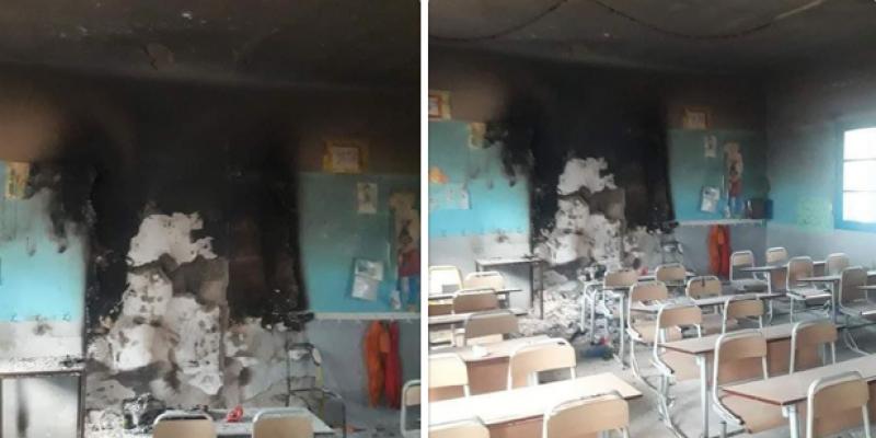 برج الوزير: حرق قاعة تدريس بالمدرسة الابتدائية حي التعمير 5