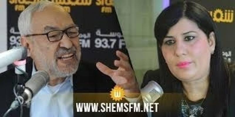 Abir Moussi envoie un avertissement à Rached Ghanouchi