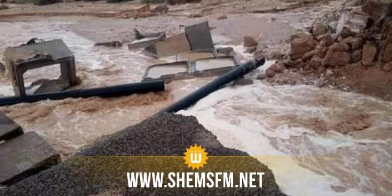 منطقة الزوابي : انهيار منشأة مائية يتسبب في عزل 11 عائلة منذ 4 أيام