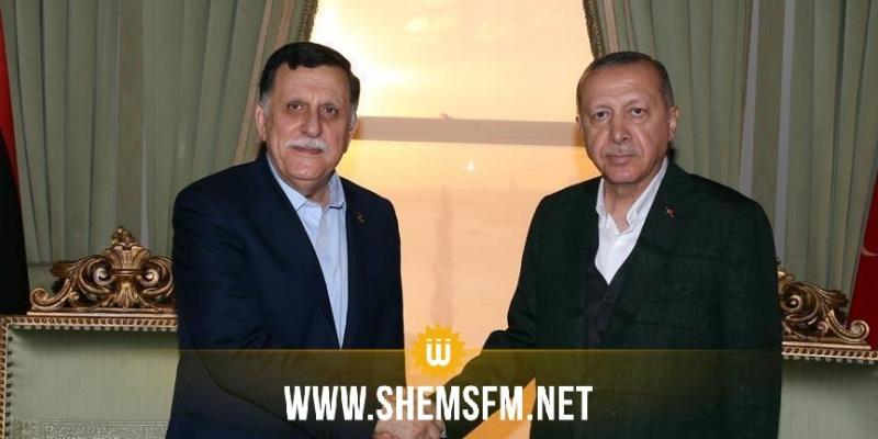 أردوغان يبدي إستعداده لإرسال جنود إلى ليبيا إذا تلقى طلبا من حكومة السراج