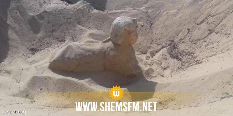 مصر: إكتشاف تمثال ملكي صغير الحجم على هيئة 'أبو الهول'