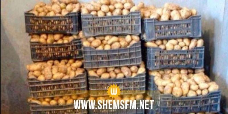 جندوبة: حجز كميات هامة من البطاطا داخل مخزن عشوائي