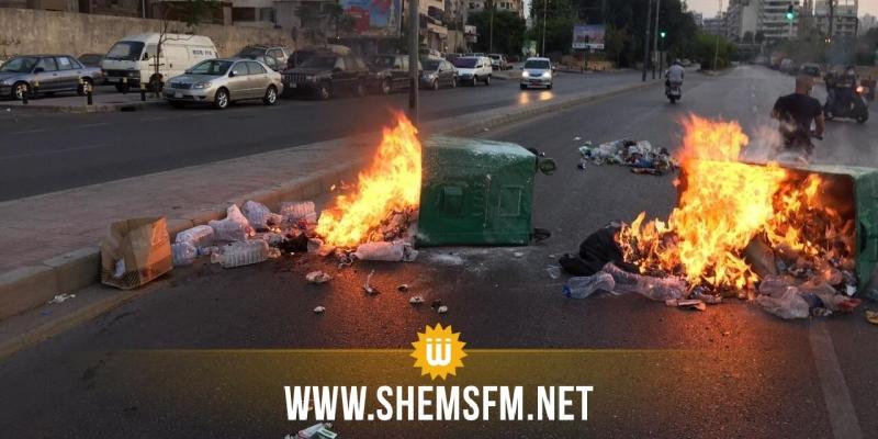 اللبنانيون يقطعون الطرقات إحتجاجا على تكليف حسان دياب بتشكيل الحكومة