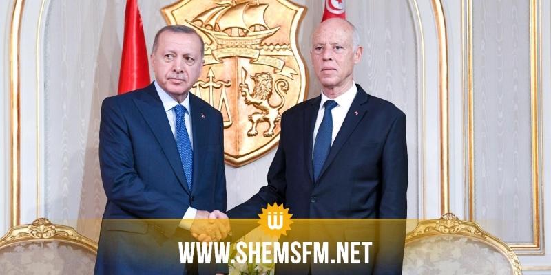 أردوغان: 'اتفقنا مع قيس سعيّد على دعم حكومة السراج في ليبيا'