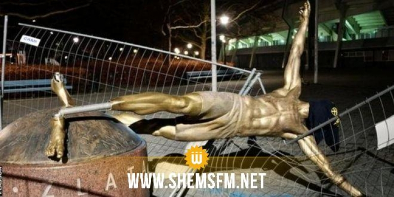 السويد: تخريب تمثال زلاتان إبراهيموفيتش