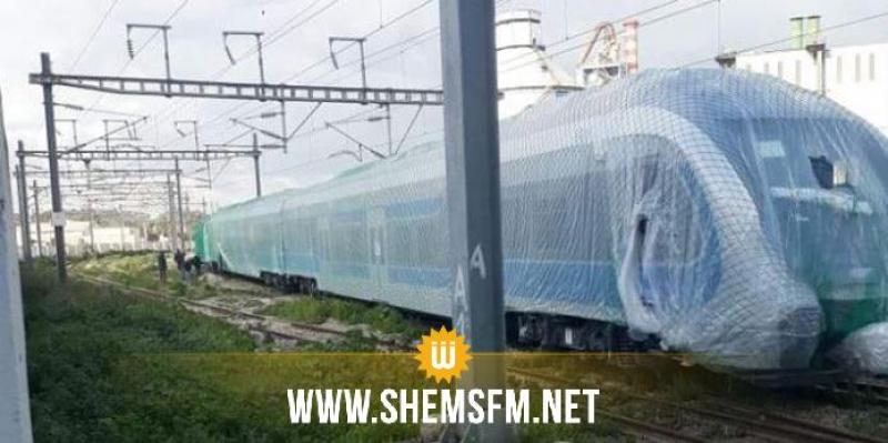 شركة السكك الحديدية تنفي خروج قطار جديد في طور التجربة عن مساره