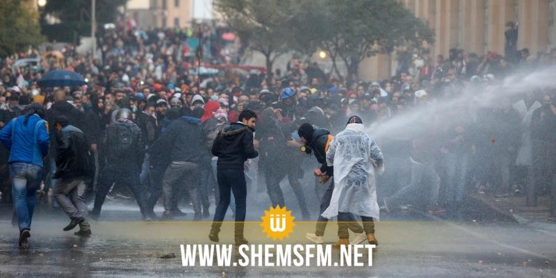 إصابات بالغة جراء الاشتباكات بين الأمن ومحتجين في بيروت