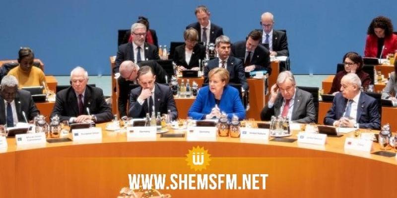 المشاركون في مؤتمر برلين يطالبون مجلس الأمن بمعاقبة أي طرف ينتهك الهدنة في ليبيا