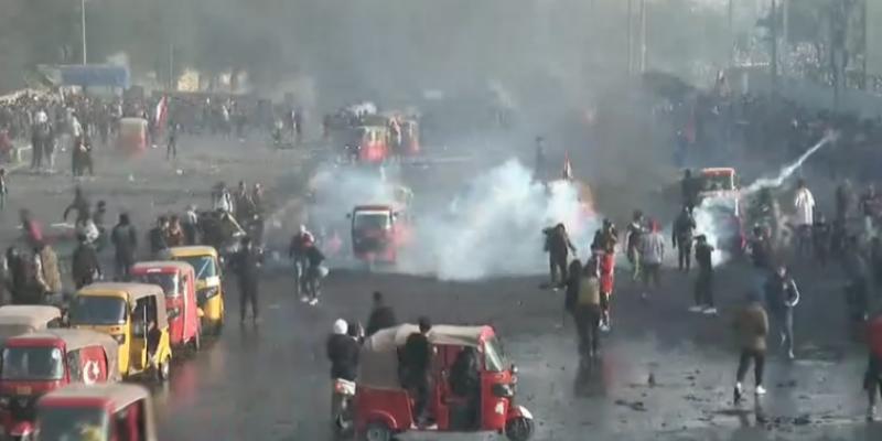 بغداد: قتيل وجرحى في مواجهات بين محتجين والأمن