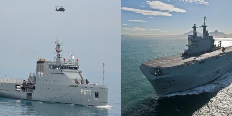 تمرين بحري مشترك بين البحريتين التونسية والفرنسية