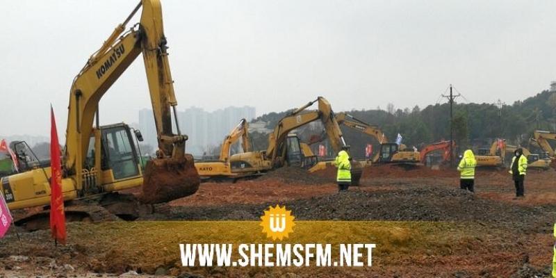 الصين تشرع في بناء مستشفى جديد في 10 أيام