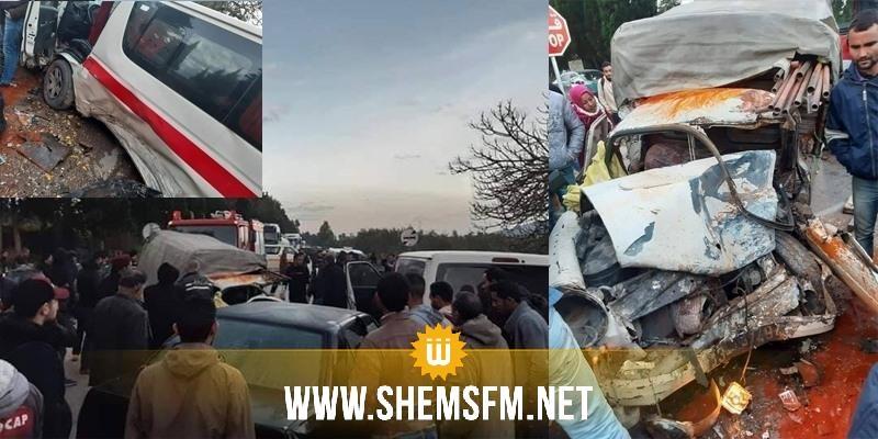 معتمدية تاكلسة: اصابة 6 أشخاص في حادث مرور