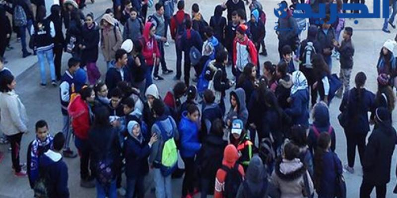 منزل بوزيان : تعطل الدروس بسبب احتراق حافلة نقل التلاميذ