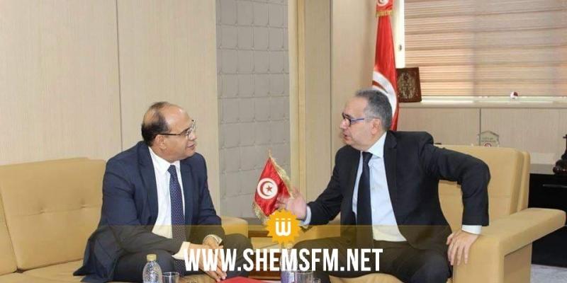 وزير العدل يلتقي رئيس الهيئة الوطنية لمكافحة الفساد