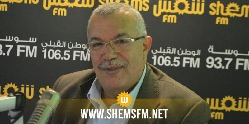 البحيري: 'تونس في حاجة إلى حكومة بحزام برلماني يفوق 145نائبا'