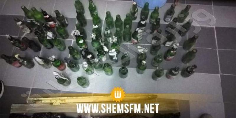 جبل الجلود: القبض على شخص وحجز 66 زجاجة حارقة 'مولوتوف'