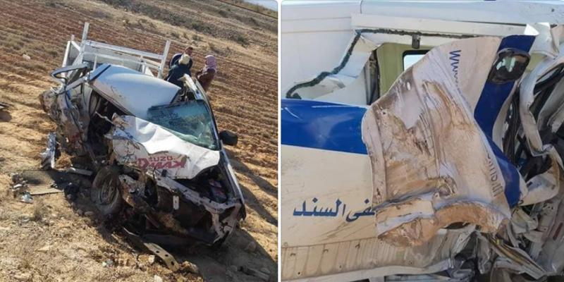 قفصة: وفاة شخص وإصابات في حادث اصطدام سيارة إسعاف بسيارة خفيفة