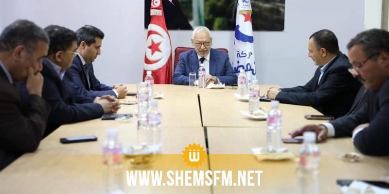 الغنوشي يحث وزراء حركة النهضة  في حكومة الفخفاخ على العمل والتعاون