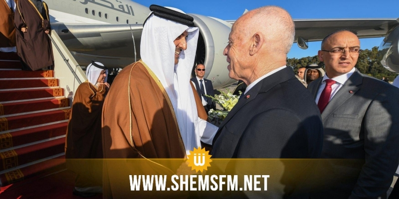 رئيس الجمهورية يستقبل أمير قطربمطار قرطاج