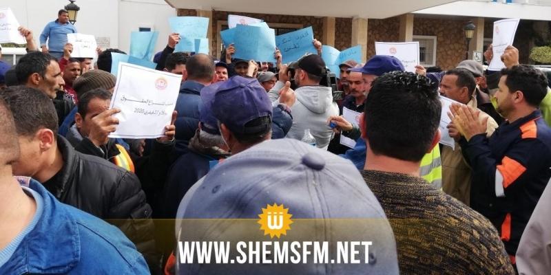 عمال بلديات ولاية المنستير مضربون يهددون بالدخول في إضراب مفتوح