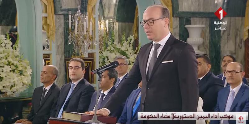 إلياس الفخفاخ وأعضاء حكومته يؤدون اليمين أمام رئيس الجمهورية