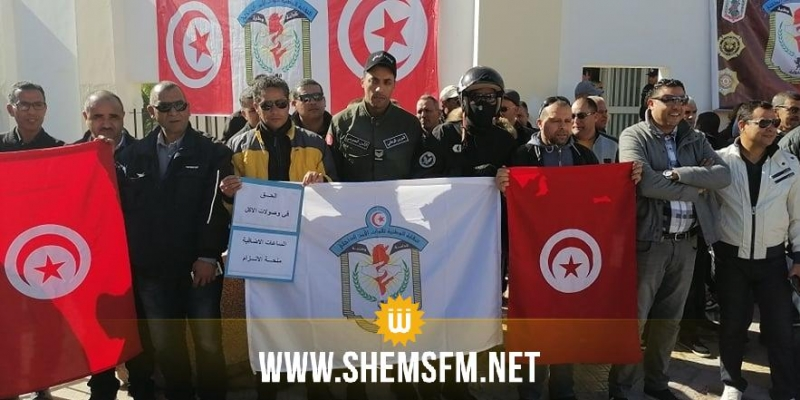 جندوبة: الأمنيون يحتجون
