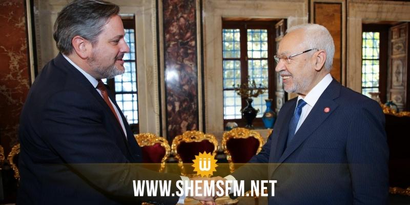 الغنوشي يبحث مع سفير بلجيكا في تونس آفاق تعزيز الشراكة البرلمانية