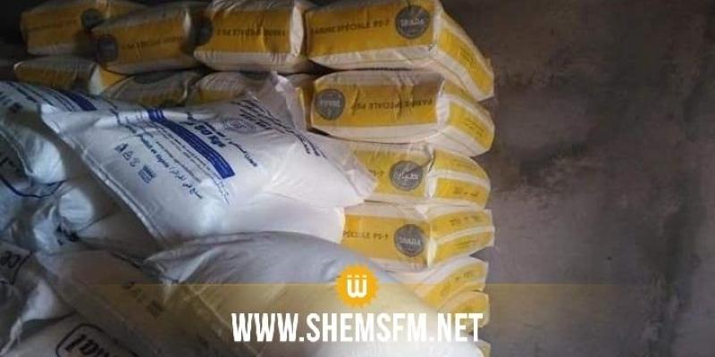 Kairouan : saisie de plus de 5 tonnes de sucre et de farine