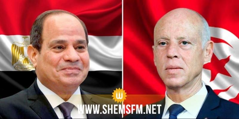 قيس سعيد للسيسي: تونس مستعدة لوضع كل امكانياتها على ذمة المصريين