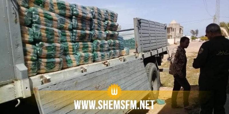 مدنين: حجز 11.5 طن من المواد المدعمة