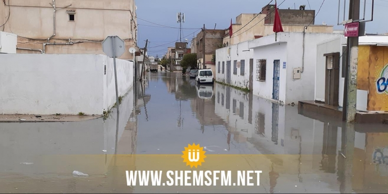 سكرة: مياه الأمطار تغمر عدد من المنازل والحماية المدنية تتدخل