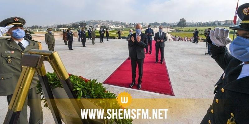 رئيس الجمهورية يشرف على موكب إحياء الذكرى 82 لعيد الشهداء