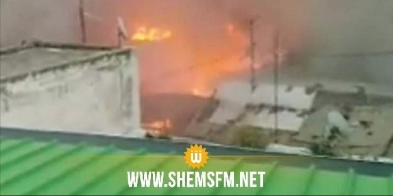 Tunis : un incendie dans des boutiques de la friperie à 'Al Hafsia'