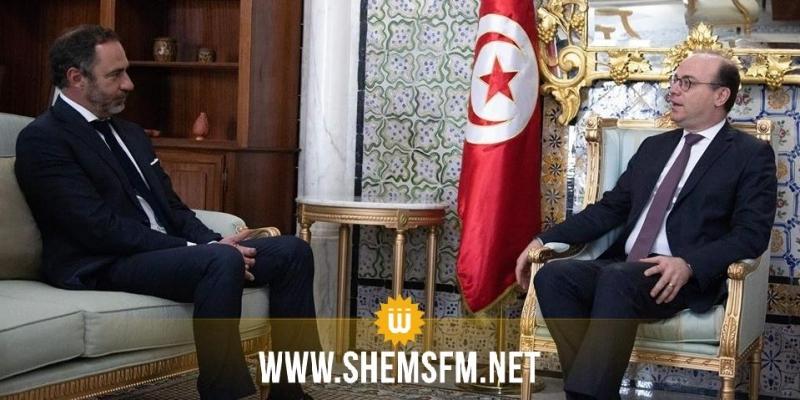 تعزيز علاقات التعاون بين تونس والاتحاد الأوروبي أبرز محاور لقاء الفخفاخ بالسفير باتريس برغاميني