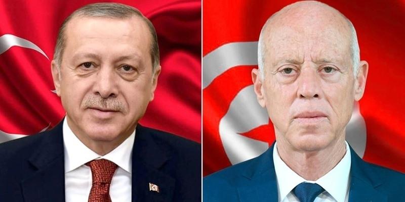 قيس سعيد لـ أردوغان : الحل في ليبيا يمكن إلا أن يكون سلميا وليبيا ليبيا