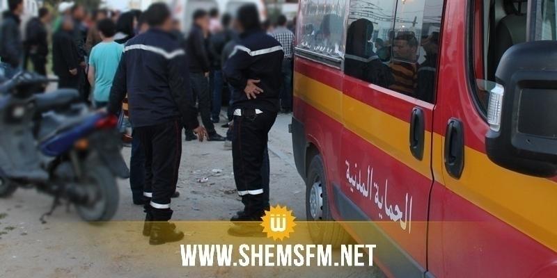 القصرين: إصابة 6 أشخاص في انقلاب شاحنتين