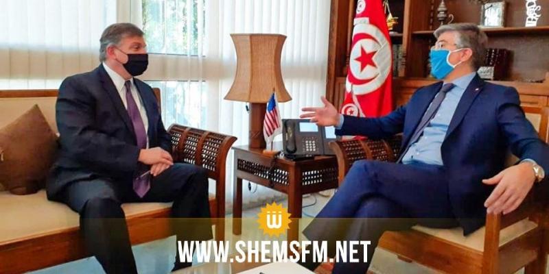 خلال لقائه وزير السياحة: السفير الأمريكي يؤكد استعداد بلده مواصلة دعم تونس