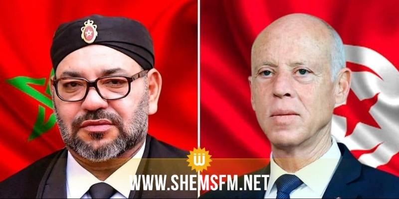 مكالمة هاتفية بين رئيس الجمهورية والملك المغربي