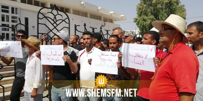 القصرين: وقفة احتجاجية تنديدا بتفشي جرائم العنف والقتل