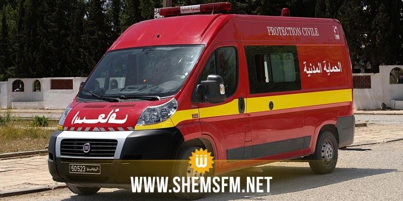 جلها اصابات خطيرة : حادث مرور يُسفر عن إصابة  9 ركاب بينهم رضيع في قرمبالية