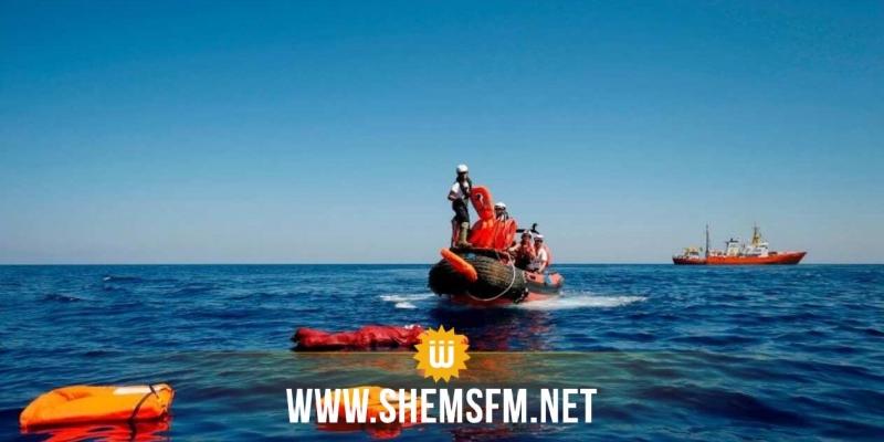 جرجيس : انقاذ 5 أشخاص من الغرق بعد أن تسربت المياه لمركبهم فى رحلة غير شرعية