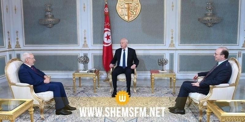 Kais Saied s'entretient avec le président de l'ARP et le chef du gouvernement