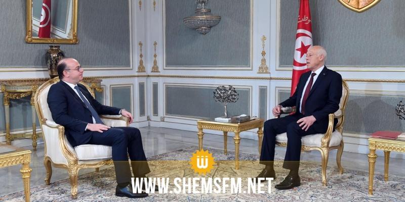 الوضع السياسي العام والتطورات الأخيرة محور لقاء رئيس الجمهورية بالفخفاخ