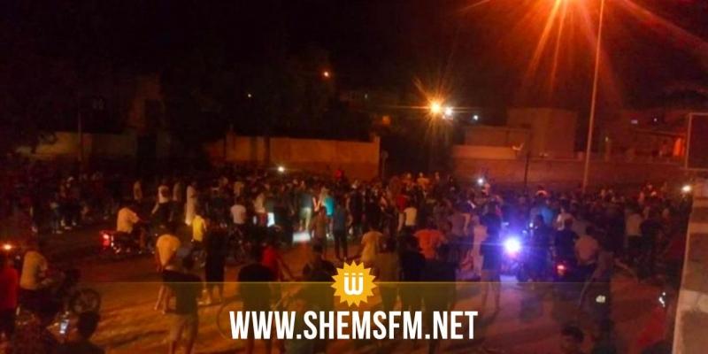 تطاوين: احتجاجات في رمادة بسبب 'مقتل' شاب داخل الشريط العازل