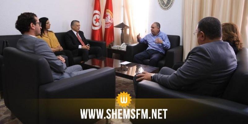 الطبوبي يلتقي وفدا عن قلب تونس