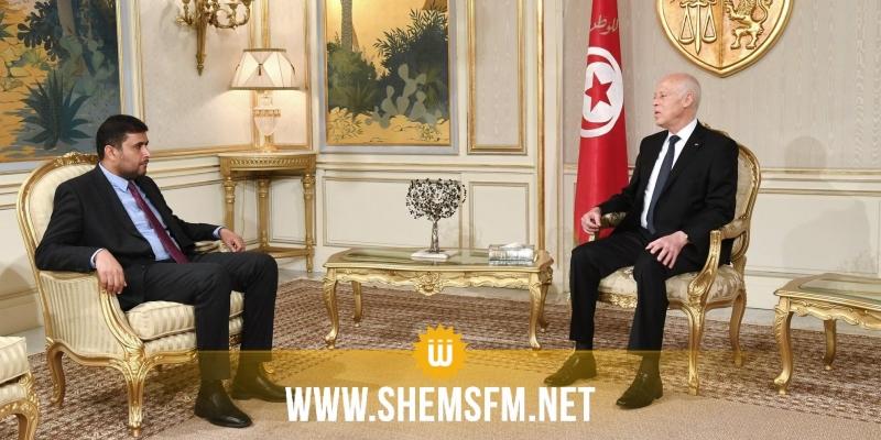 قيس سعيد يستقبل وزير المالية في حكومة الوفاق الليبية فرج بومطاري