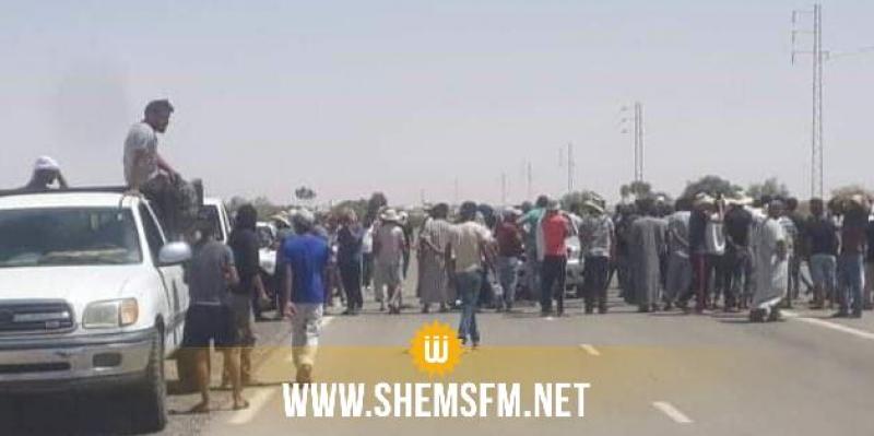 تطاوين: وقفة احتجاجية لشباب رمادة في معبر ذهيبة