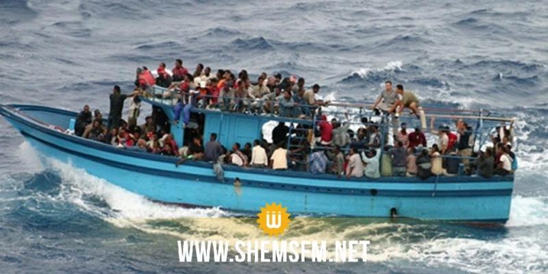 المهدية: إيقاف مركب عليه 72 مهاجرا سريا وانتشال جثة شاب أصيل ملولش